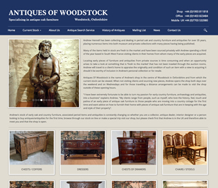 Relaunch of www.antiqueoakfurniture.co.uk